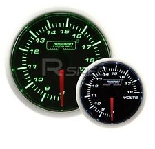 Prosport 52mm Super Smoked Green / White DC Volts Voltage reads 8v to 18v