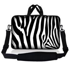 """17.3"""" 17.4 Laptop Sleeve Bag Case w Handle & Shoulder Strap Zebra Print SP20"""