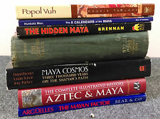 Book lot/7 Ancient Maya Gods Kings History Calendars Hidden Cosmos Mayan Factor