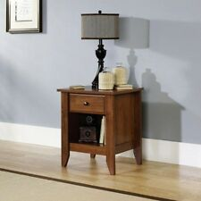 Wood Nightstand Bedside End Table Oak Night Stand 1 Drawer Bedroom Furniture
