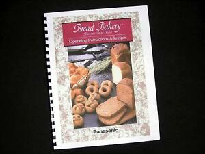 Panasonic Bread Maker Machine Directions Instruction Manuals w/ Recipes Various