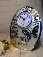 50TH WEDDING ANNIVERSARY GIFT GOLDEN WEDDING CLOCK GIFT # 50TH WEDDING PRESENT