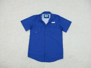 Magellan Vented Button Down Shirt Extra Large XL Youth Blue Pockets Fishing Teen