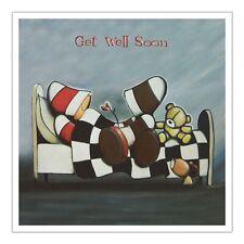 Santoro Hoodies Greeting Card - Get Well Soon - Checkerboard Bed - Sg-Hd-005