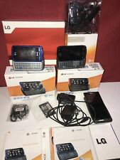 2x LG Xenon GR500 Cell Phone + 2 Motorola H270 Bluetooth Headset (AT&T) QWERTY