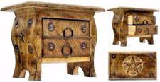 Pentagram Chest Wooden Altar Box Carved Wicca Pagan Celtic Incense Herb Storage