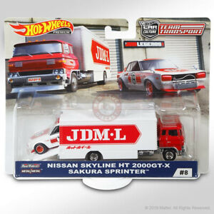 Hot Wheels TEAM TRANSPORT Mix C #8 NISSAN SKYLINE HT 2000GT-X & SAKURA SPRINTER