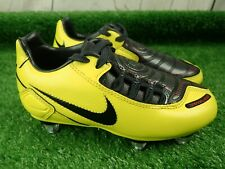 Adidas Total 90 Shoot Kids Yellow Football Boots /Need the studs replacing Sz 10