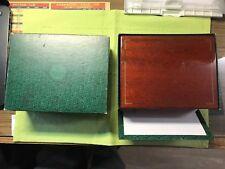 Vintage Rolex Large size Daytona ;Submariner Gold Watch wooden box 7-1/2x6x3-1/2