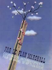 Propaganda política plan Marshall post guerra ayuda Francia la Segunda Guerra Mundial Poster Print BB2586A