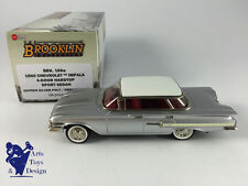 1/43 BROOKLIN 166A CHEVROLET IMPALA 4 DOOR HARDTOP SPORT SEDAN 1960 SILVER WHITE
