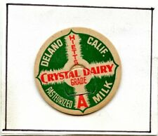 Milk Bottle Cap Crystal Dairy, Deland, Calif.