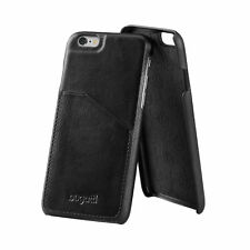Bugatti iPhone 8 Plus & 7 Plus Full Grain Leather Card Pocket Case Cover Black