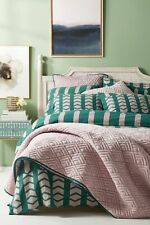 LAST ONE Anthropologie 💜 Embroidered Minerva 💜 queen duvet cover NWT