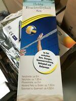 Volleyball Komplettset Ball Netz Netzstange Pumpe Strandspiel Beach Volley Ball
