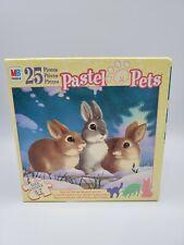 Vintage Milton Bradley Pastel Pets Jigsaw Puzzle 25 Pcs MB Unopened