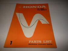 OEM Factory Honda 1973 1974 TL125 Parts List Manual