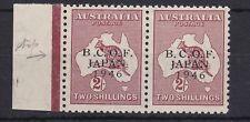 BCOF33) Australia 1946 BCOF 2/- Kangaroo marginal horizontal pair