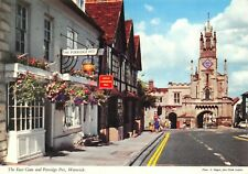 Postcard, The East Gate and Porridge Pot, Warwick, Warwickshire 93Y