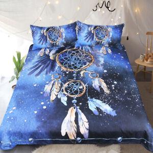 Dreamcatcher Galaxy Pattern Bedding Set Duvet Cover + 2 Pillowcases