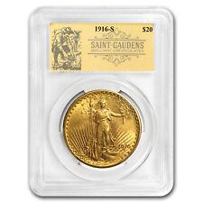1916-S $20 Saint-Gaudens Double Eagle BU PCGS (Prospector Label) - SKU#173572