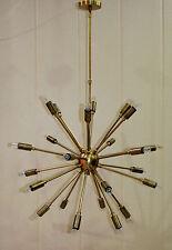 24 Bulbs Antique Brass Sputnik Pendant Lamp Ceiling Light Chandelier Fixture