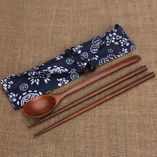 Portable Wooden Cutlery Sets Wooden Chopsticks And Spoons Travel Suit FG