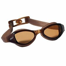 Aryca SS200 Supreme Series Swimming Goggles with Brown Lenses (Brown Straps) NEW