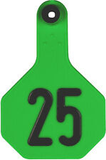 YTex 3 Star Medium Cattle ID Ear Tags Green Numbered 76-100