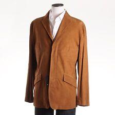 NWT $7995 KITON NAPOLI Camel Tan Lambskin Leather Blazer 40 R (Eu 50) Jacket M