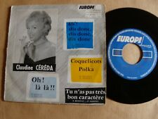 "Claudine Céréda : Coquelicots Polka  7"" EP 1957 rare EUROPE DISQUES CH 45.1202"