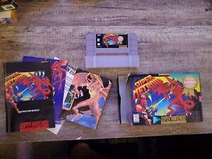 Super Metroid (Super Nintendo Entertainment System, 1994) Authentic with box