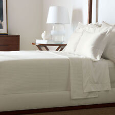 Ralph Lauren Home Point Dume KEEGAN KING Bed Blanket 100% Cotton WHITE - NEW!