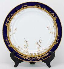 Antique Pirkenhammer Fischer Mieg Dinner Cabinet Plate Gold Excellent