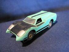 Vintage Aurora HO T-Jet Slot car Ford J-Car Turquoise/Black