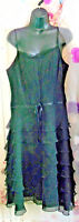 BLACK Laura Ashley vintage  dress occasion pin up rockabilly cocktail goth punk