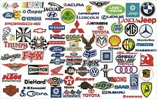 Over 200 embroidery designs motorsports format: dst, embroidery files Tajima