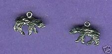 20 wholesale lead free pewter bear charms 1039