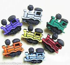 Novelty Buttons Scrap Booking Quilting Decorative Trains Engines #102