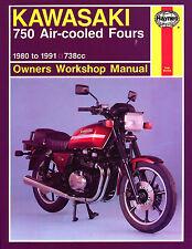 Haynes Manual 0574-Kawasaki gt750/gpz750/z750 (80 - 91) workshop/service