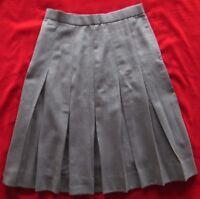 Vintage Evan Picone 100% Wool Gray Pleated Skirt