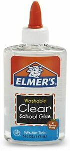 Elmer's Washable School clear Liquid Glue, 147ml - 5fl oz
