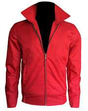 Mens Rebel Without a Cause James Dean Red Cordura Cotton Jacket Special