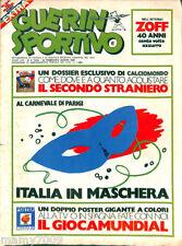 GUERIN SPORTIVO=N°8 1982=LENE LOVICH=CALCIOMONDO=PLAY SPORT &MUSIC