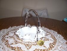 FENTON SILVER CREST BASKET WITH HANG TAG