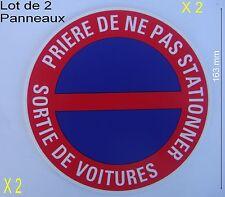 Lot 2 Panneaux Signalisation Interdiction,NE PAS STATIONNER,,Garage,,diam 163 mm