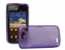 Rubber Case Wave für Samsung i8150 Galaxy W in lila Silikon Skin Hülle purple