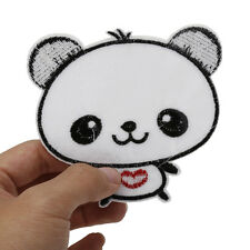 6pc Sweets Pandas Embroidery Cloth Iron On Patch Sew Motif Applique Cute Patches