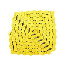 """KMC Z410  1/2"""" x 1/8"""" Single Speed Chain ,112 link , Yellow"""