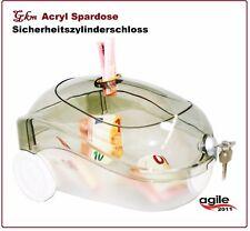 Spardose staubsauger Acryl 27x15x17cm Sparbox Sparbüchse Spendenbox abschließbar